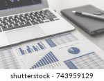 showing business and financial... | Shutterstock . vector #743959129
