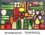 super food for good health... | Shutterstock . vector #743959531