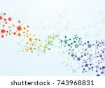 abstract molecules medical... | Shutterstock .eps vector #743968831