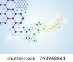 abstract molecules medical... | Shutterstock .eps vector #743968861