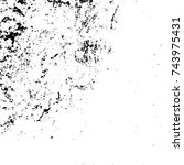 grunge black white. monochrome... | Shutterstock .eps vector #743975431