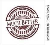red much better distress grunge ... | Shutterstock .eps vector #743976931