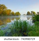 morning on the river   Shutterstock . vector #743980729