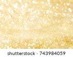 Golden Holiday Background Boke...
