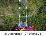 tibetan bridge | Shutterstock . vector #743984821