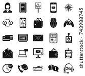 general information icons set.... | Shutterstock .eps vector #743988745