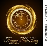 happy new year  background with ...   Shutterstock .eps vector #743989615