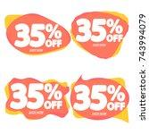set sale speech bubble banners  ...   Shutterstock .eps vector #743994079