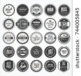 retro vintage badge and label... | Shutterstock .eps vector #744005845