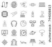 advanced world icons set....   Shutterstock .eps vector #744008815