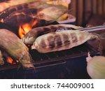 grill corn | Shutterstock . vector #744009001