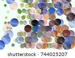 abstract conceptual geometric... | Shutterstock .eps vector #744025207
