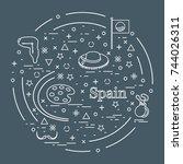vector illustration with... | Shutterstock .eps vector #744026311