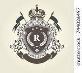 imperial royal  coat of arms  ... | Shutterstock .eps vector #744026497