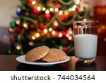 Christmas Cookies And Milk Wit...
