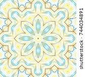 colorful symmetrical pattern...   Shutterstock . vector #744034891