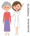 nurse patient | Shutterstock .eps vector #744036724