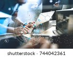 developing programming and... | Shutterstock . vector #744042361