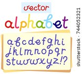 vector english alphabet. eps 10 | Shutterstock .eps vector #744052321