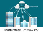 cloud storage is unified object ... | Shutterstock .eps vector #744062197
