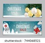 abstract vector illustration... | Shutterstock .eps vector #744068521
