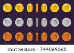coin sprite sheet. a set of...