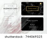 interior business card or name... | Shutterstock .eps vector #744069325