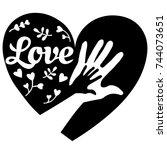 heart with hands in it | Shutterstock .eps vector #744073651