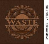 waste wooden signboards | Shutterstock .eps vector #744084481
