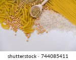 set of products with complex... | Shutterstock . vector #744085411