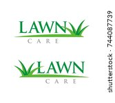 lawn care logo design template...