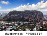 thuy son mountain is the most... | Shutterstock . vector #744088519