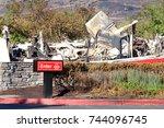 santa rosa  ca   october 22 ... | Shutterstock . vector #744096745