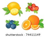 fruits | Shutterstock .eps vector #74411149