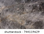 closeup surface marble stone... | Shutterstock . vector #744119629