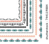 corner decoration imitation of... | Shutterstock .eps vector #744119884