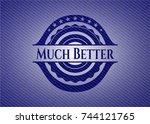 much better emblem with jean... | Shutterstock .eps vector #744121765