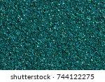 dark turquoise shining... | Shutterstock . vector #744122275