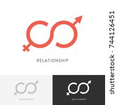relationship logo   male and... | Shutterstock .eps vector #744126451