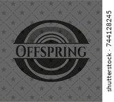 offspring black emblem. vintage. | Shutterstock .eps vector #744128245
