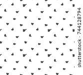 vector endless seamless pattern ... | Shutterstock .eps vector #744128794