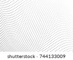 abstract halftone wave dotted... | Shutterstock .eps vector #744133009