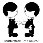 friendship  partnership | Shutterstock .eps vector #744138397