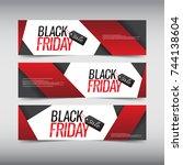 black friday sale design banner ...   Shutterstock .eps vector #744138604