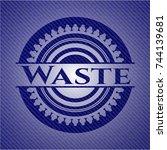 waste with denim texture | Shutterstock .eps vector #744139681