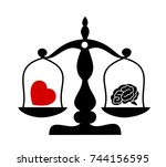 balance between irrational love ... | Shutterstock .eps vector #744156595