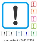 exclamation sign icon. flat... | Shutterstock .eps vector #744157459
