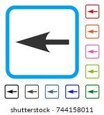 sharp left arrow icon. flat... | Shutterstock .eps vector #744158011