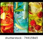three extreme macro shots of... | Shutterstock . vector #74415865