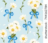 camomile seamless pattern | Shutterstock .eps vector #744162784